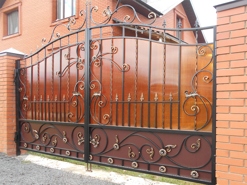 металлические ворота в тюмени